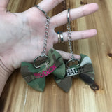 Mini Nametape Camo Bow Keychain (all branches)