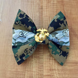 Marines Center Lace Classy Corner Woodlands and EGA Bow