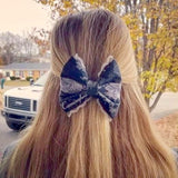 U.S. Navy Deluxe Lace Digi Blue Bow