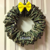 Standard Nametape Camo Wreath (all branches)