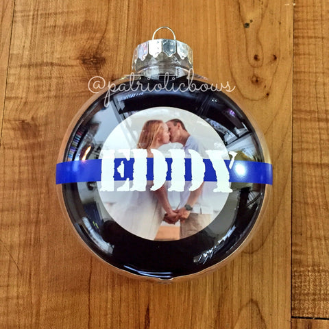 Personalized Thin Line Ornament