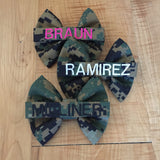 Marines Woodlands Nametape Bow
