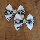 U.S. Navy White Dress Bow with Charm