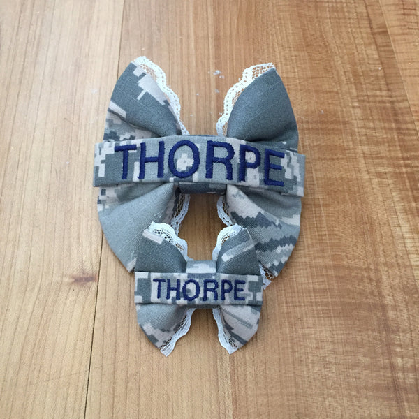 Mommy & Me Lace Nametape Bow Set (all branches)