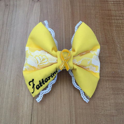 "Deluxe Lace ""She Wore a Yellow Ribbon"" Bow"