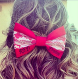 Lace RED Friday Bow