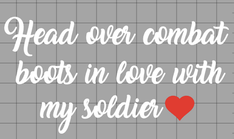 Head Over Combat Boots Decal (all branches)
