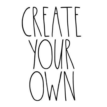 Rae Dunn Inspired CREATE YOUR OWN Decal