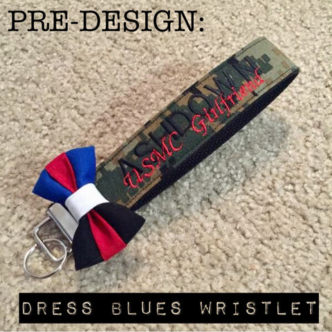 Pre-Designed Marines Dress Blues Wristlet