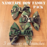 Nametape Bow Family Pack (all branches)