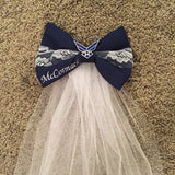 Personalized Wedding Bow Veil (all branches)