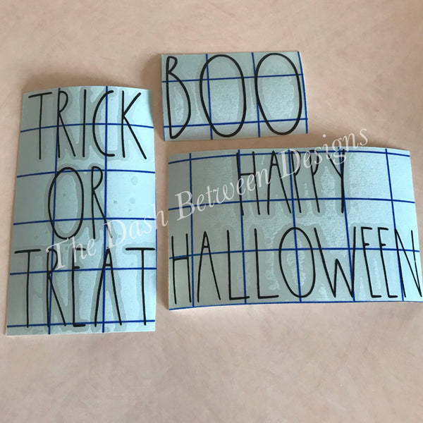 Rae Dunn Inspired Bundle- BOO TRICK OR TREAT HAPPY HALLOWEEN
