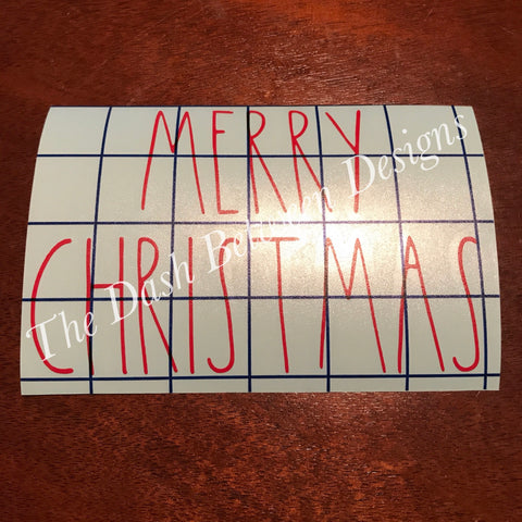 Rae Dunn inspired Merry Christmas DECAL