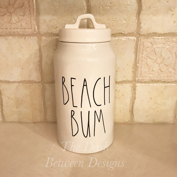 Rae Dunn Inspired BEACH BUM Decal