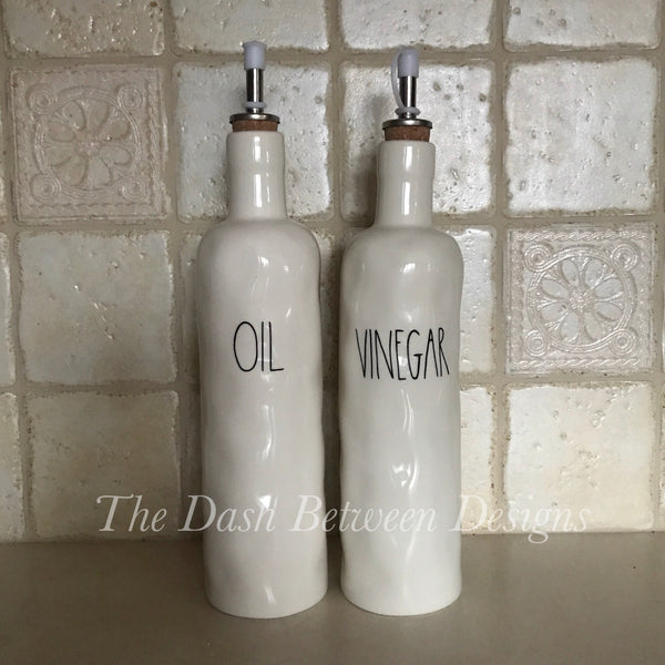 Rae Dunn Inspired OIL and VINEGAR Decals