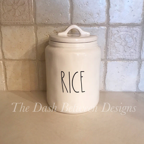 Rae Dunn Inspired RICE Decal