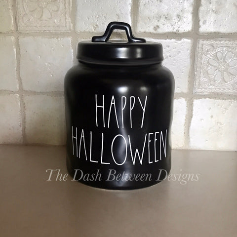 Rae Dunn inspired white Happy Halloween Decal