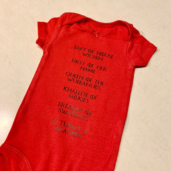 """Baby of House CUSTOM"" Onesie"