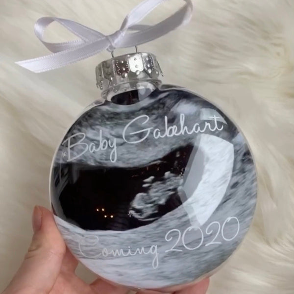 Personalized Ultrasound Ornament