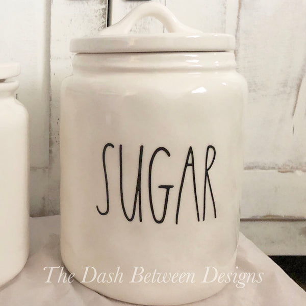 Rae Dunn Inspired SUGAR Decal