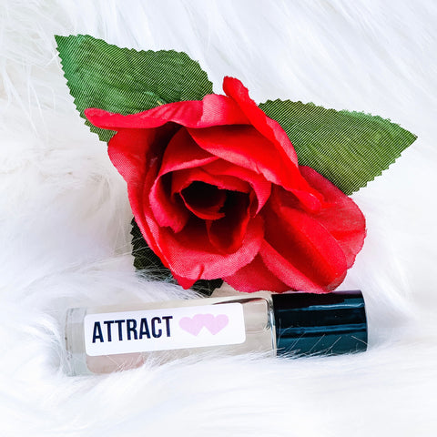 ATTRACT Limited Edition Quartz Crystal Essential Oil Rollerball