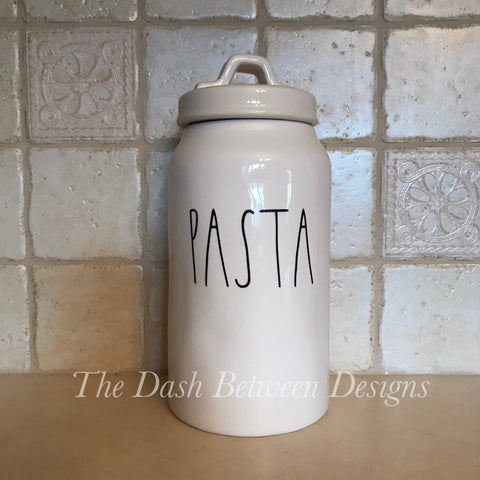 Rae Dunn Inspired PASTA Decal