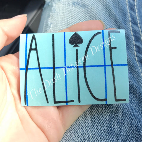 Rae Dunn inspired Alice decal
