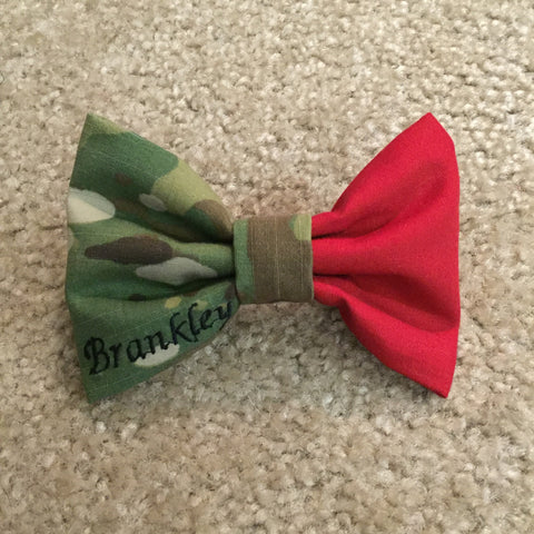 Half Red-Half Camo Nametape Bow (all branches)