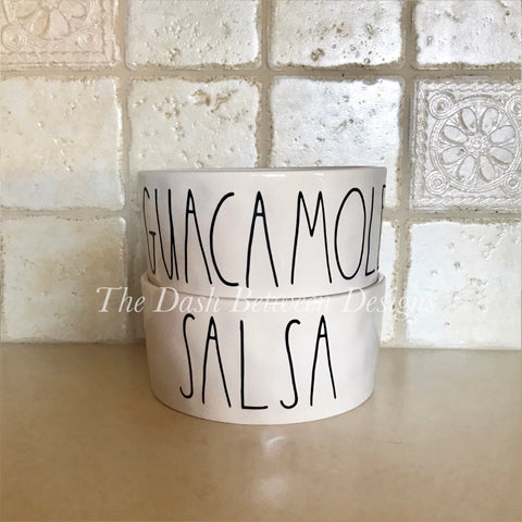 Rae Dunn Inspired SALSA and GUACAMOLE Decals