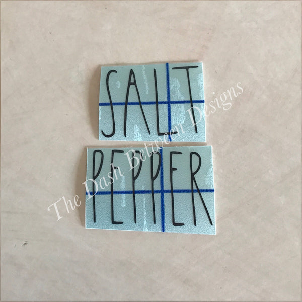 Rae Dunn Inspired SALT and PEPPER Decals