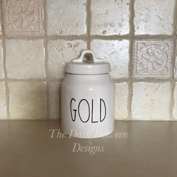 Rae Dunn Inspired GOLD Decal