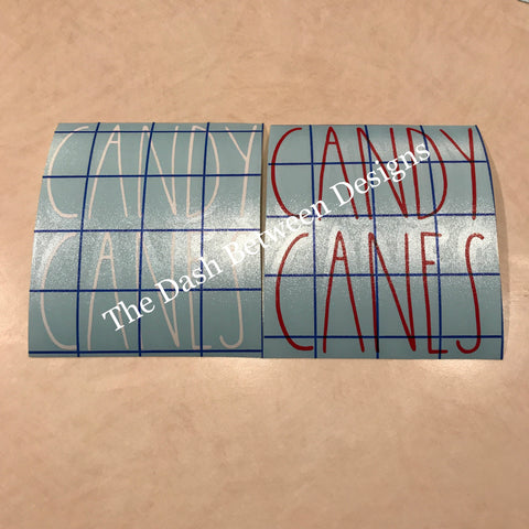 Rae Dunn inspired Candy Canes Decal