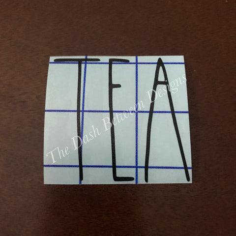Rae Dunn Inspired TEA Decal