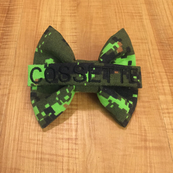 Canadian Cadpat Nametape Bow