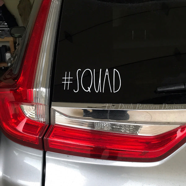 Rae Dunn inspired #Squad Decal