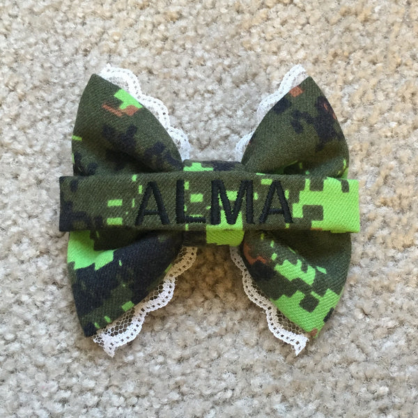 Canadian Lace Nametape Cadpat Bow