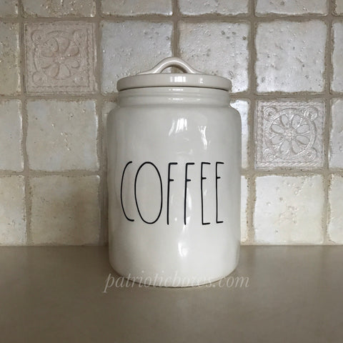 Rae Dunn Inspired COFFEE Decal