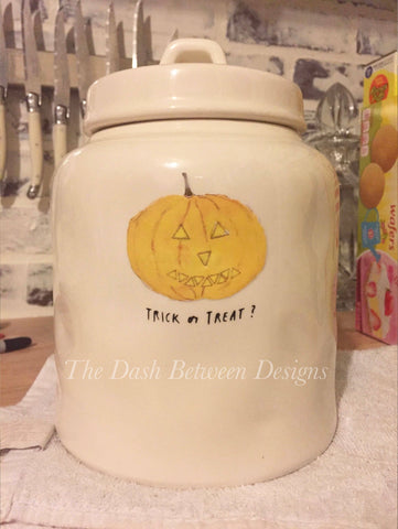 Rae Dunn Inspired Fat Jack Pumpkin Decal