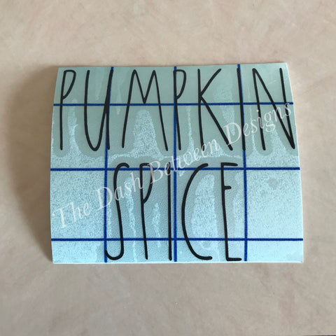 Rae Dunn Inspired PUMPKIN SPICE Decal