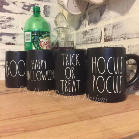 Rae Dunn Inspired Halloween Mug Decal Set