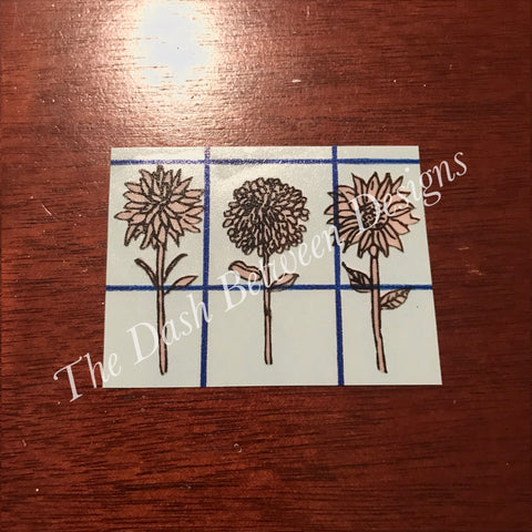 Rae Dunn Floral Stems Decal