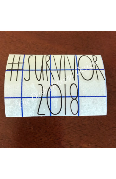 Rae Dunn Inspired #Survivor2018 Decal