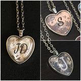 Personalized Photo Glass Heart Necklace