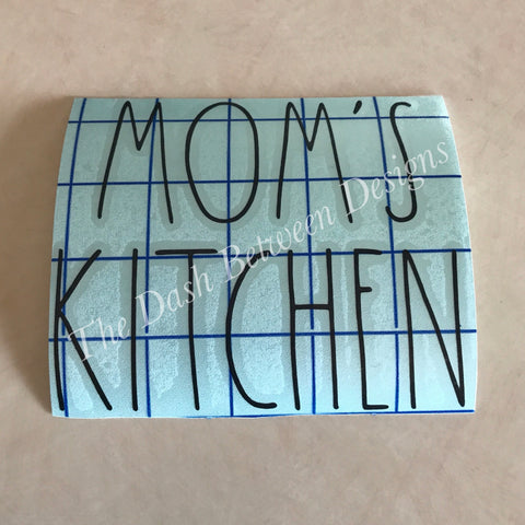 Rae Dunn Inspired MOM'S KITCHEN Decal