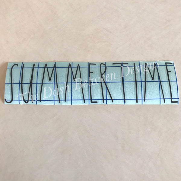 Rae Dunn Inspired SUMMERTIME Decal