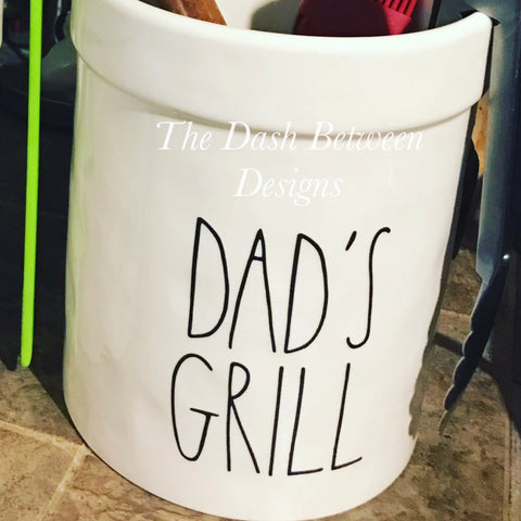 Rae Dunn Inspired DAD'S GRILL Decal