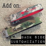 Back Side Customization Fee (Wristlets sold separately)