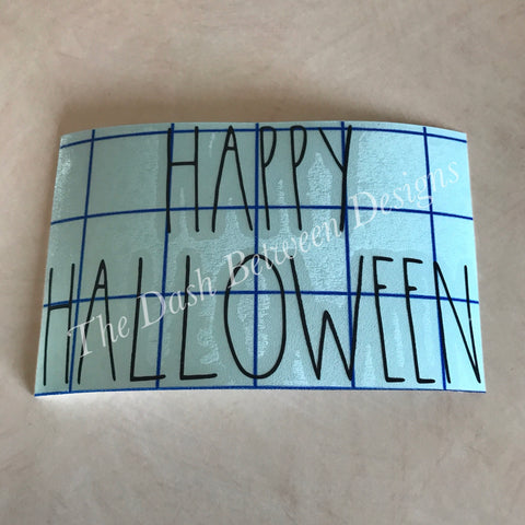 Rae Dunn Inspired HAPPY HALLOWEEN Decal