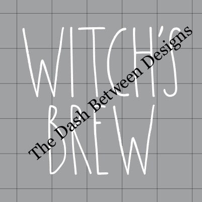 Rae Dunn Inspired WITCH'S BREW Decal
