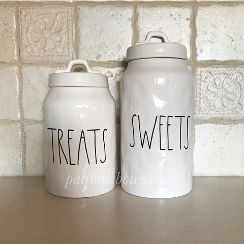 Rae Dunn Inspired SWEETS and TREATS Decals